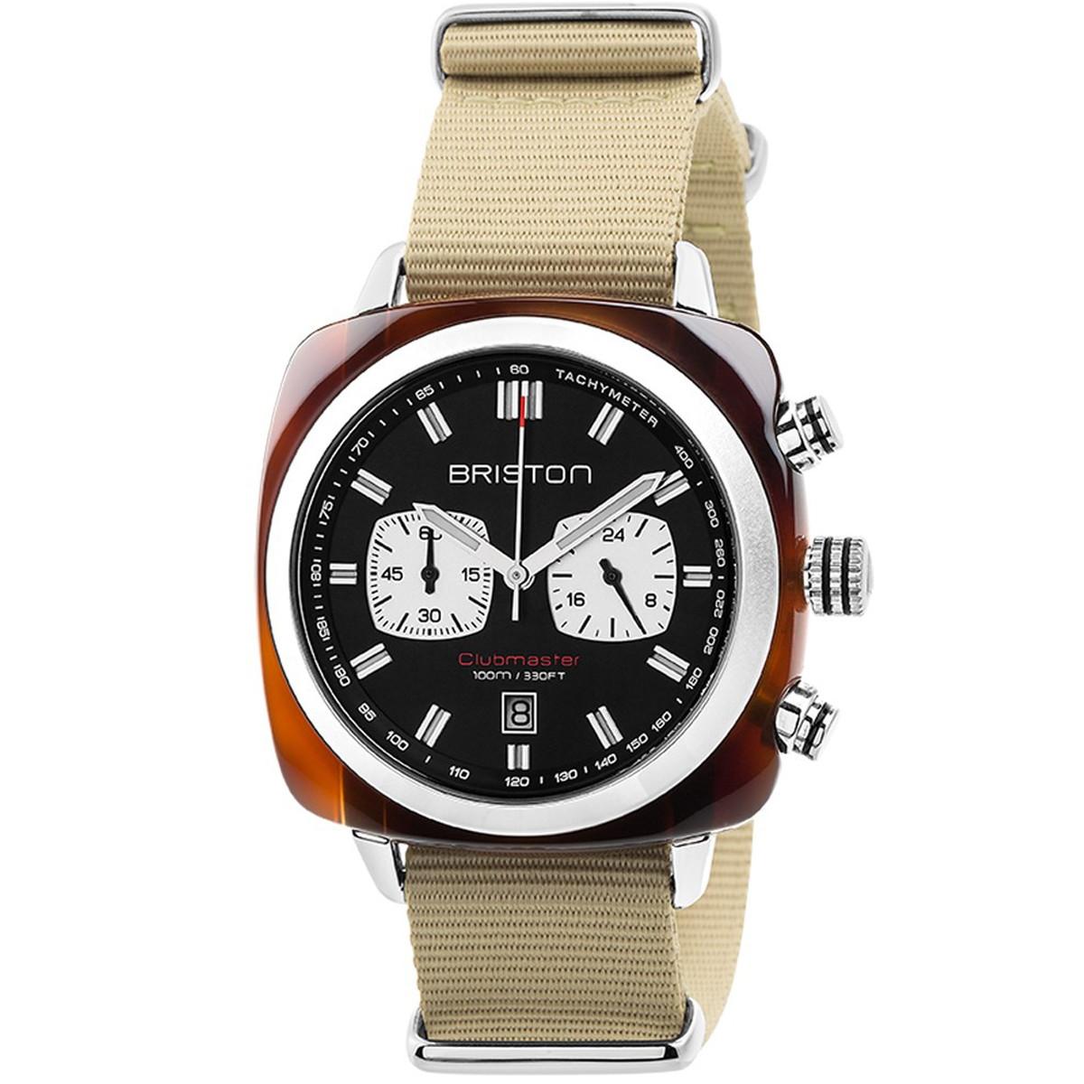 ブリストン BRISTON 公式通販 CLUBMASTER SPORT CHRONOGRAPH TORTOISE WATCH / 腕時計