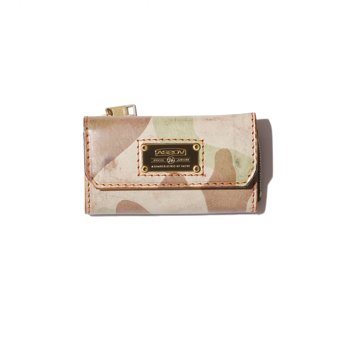 AS2OV (アッソブ) CAMOUFLAGE LEATHER WALLET KEY CASE / キーケース 101603