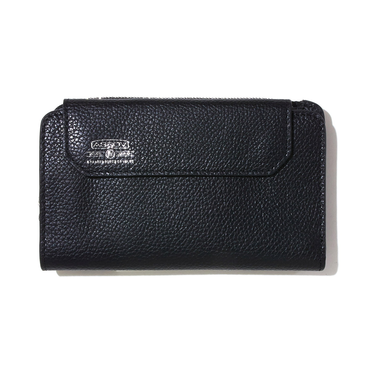 AS2OV (アッソブ) レザー 折財布 ショートウォレット SHRINK LEATHER MOBILE WALLET SHORT WALLET 081701