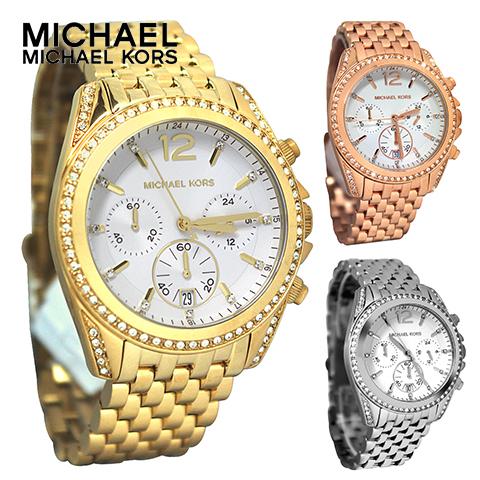 【海外取寄せ】マイケルコース Michael Kors 腕時計 時計 MK5836 MK5835 MK5834 ピンクゴールド ゴールド シルバー 【セレブ】【ブランド】【インポート】