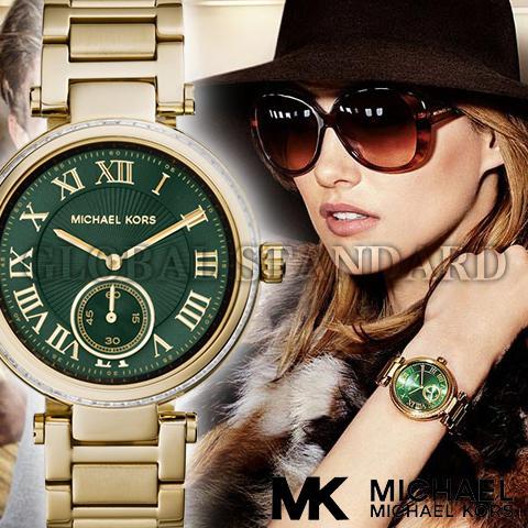 マイケルコース 時計 michaelkors 腕時計 マイケル コース 腕時計 michael kors 時計 マイケルコース時計 レディース MK6065 人気 ブランド 女性 彼女 妻 嫁 プレゼント かわいい おしゃれ 緑 グリーン ゴールド 海外取寄せ 送料無料