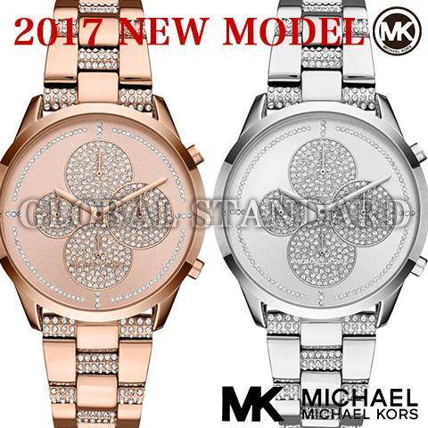 マイケルコース 時計 マイケルコース 腕時計 レディース MK6552 MK6553 インポート シルバー ピンクゴールド 2017最新作
