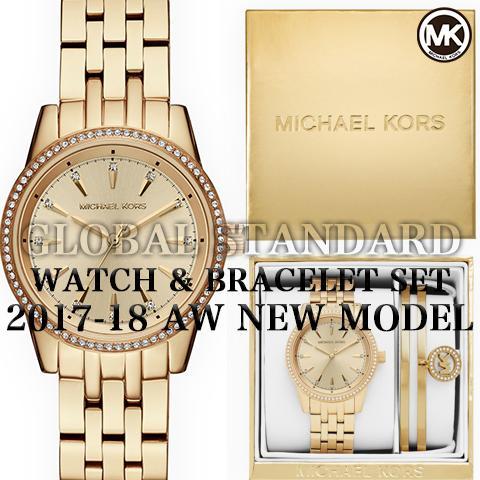 ファイナルセール!! 2017AW最新作 マイケルコース 時計 マイケルコース 腕時計 レディース MK3742 インポート 時計&ブレスレットセット 海外取寄せ 送料無料