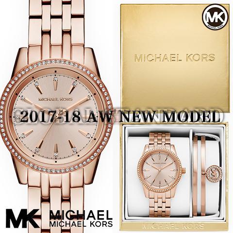 ファイナルセール!! 2017AW最新作 マイケルコース 時計 マイケルコース 腕時計 レディース MK3744 インポート 時計&ブレスレットセット MK3742 同シリーズ 海外取寄せ 送料無料