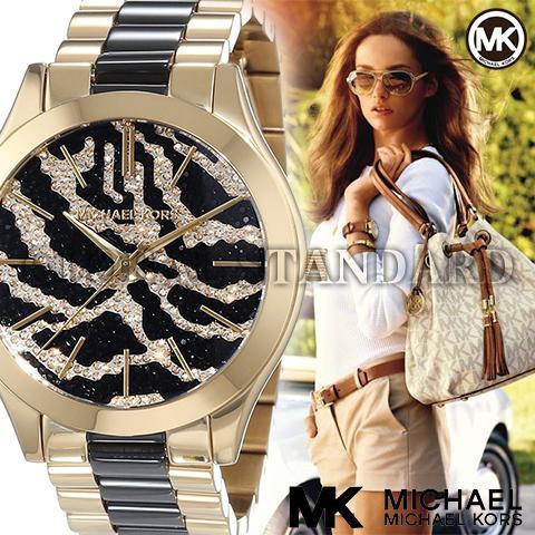 マイケルコース 時計 マイケルコース 腕時計 レディース MK3315 Michael Kors インポート MK3316 MK3326 同シリーズ 海外取寄せ 送料無料 ゼブラ