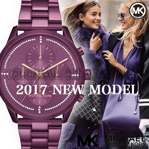 マイケルコース 時計 マイケルコース 腕時計 レディース MK6523 Michael Kors インポート 2017最新作 海外取寄せ 送料無料 パープル 紫
