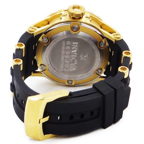 ラスト1点限り インヴィクタ 時計 INVICTA 腕時計 INVICTA 時計 メンズ Gold Plated 6186 インポートゴールド ブラック 耐水500m ミリタリーウォッチ あす楽