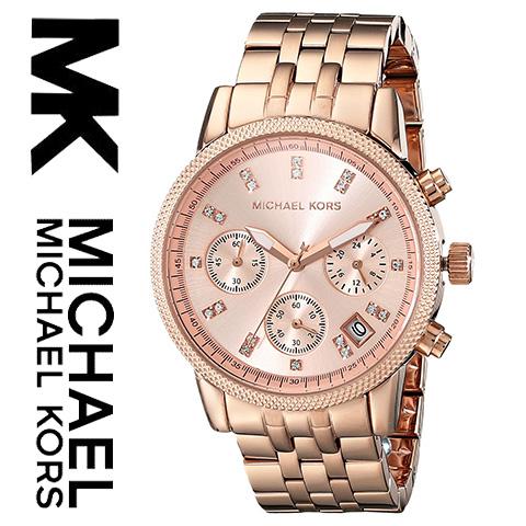 【海外取寄せ】マイケルコース Michael Kors 腕時計 時計 MK6077【インポート】【ピンクゴールド】MK6324 MK5676 MK5057 MK5650 MK6280 MK6307 MK5038 MK5039 MK5020 同シリーズ