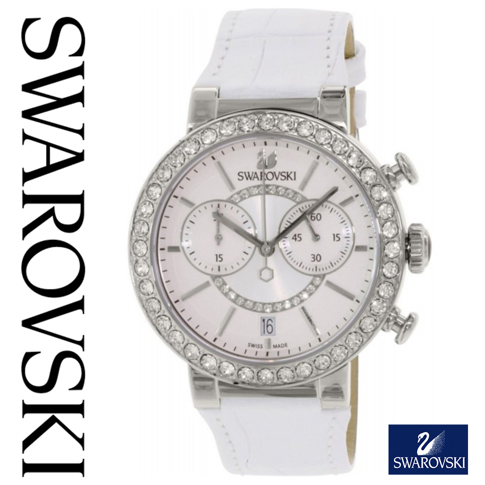 スワロフスキー 時計 レディース スワロフスキー 腕時計 SWAROVSKI 時計 SWAROVSKI 腕時計 シトラ スフィア 5027127 スワロフスキークリスタル ホワイト シルバー レザー スワロフスキー ネックレス や スワロフスキー ピアスのお供に 海外取寄せ 送料無料