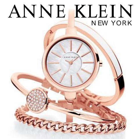 【キャッシュレス決済5%還元中】米国正規販売代理店品 アンクライン 時計 アンクライン 腕時計 レディース Anne Klein 1470RGST インポート ブレスレットセット ピンクゴールド 海外取寄せ 送料無料