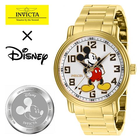 海外限定 INVICTA × Disney インヴィクタ ディズニー 時計 ミッキーマウス INVICTA 時計 INVICTA 腕時計 メンズ 27393 インポートゴールド 人気 ブランド 男性 女性 夫 旦那 プレゼント 記念日 海外取寄せ 送料無料