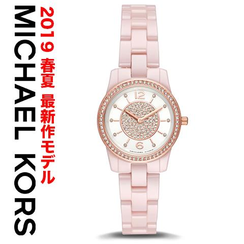 ラスト1点限り 日本未発売 2019最新作 マイケルコース 時計 マイケルコース 腕時計 レディース MK6622 Michael Kors インポート 誕生日 ギフト プレゼント 彼女 ブラック ピンク セラミック あす楽 送料無料