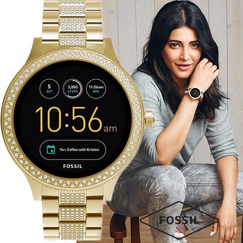 フォッシル スマートウォッチ レディース フォッシル 腕時計 フォッシル 時計 Fossil タッチスクリーン スマートウォッチ 第3世代 FTW6001 インポート 誕生日 ギフト プレゼント 彼氏 彼女 防水 iphone Android 対応 ゴールド 海外取寄せ 送料無料