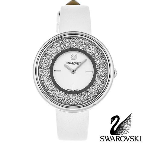 期間限定SALE 850個のクリスタル スイスメイド スワロフスキー 時計 レディース スワロフスキー 腕時計 SWAROVSKI 時計 SWAROVSKI 腕時計 5275046 スワロフスキークリスタル シルバー ホワイト レザー 人気 ブランド 誕生日 プレゼント ギフト 女性 彼女 バレンタイン