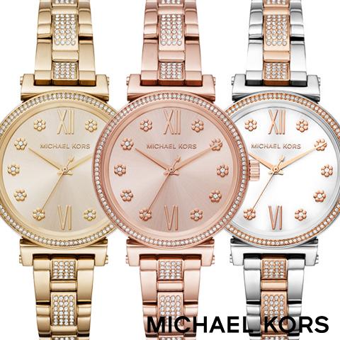 2018最新作 マイケルコース 時計 マイケルコース 腕時計 レディース MK3881 MK3882 MK3880 インポート 海外取寄せ 送料無料