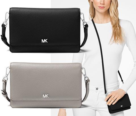 2018 Most New Work Michael Kors Tote Bag Shoulder Smartphone Crossbody Black Gray 32t8sf5c1l Foreign Countries