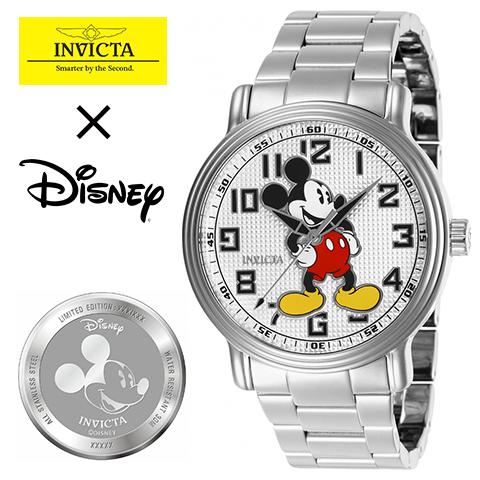 海外限定 INVICTA × Disney インヴィクタ ディズニー 時計 ミッキーマウス INVICTA 時計 INVICTA 腕時計 メンズ 27392 インポートシルバー 人気 ブランド 男性 女性 夫 旦那 プレゼント 記念日 海外取寄せ 送料無料