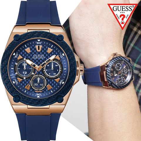 【キャッシュレス決済5%還元】ゲス 時計 メンズ ゲス 腕時計 GUESS 時計 GUESS 腕時計 レディース W1049G2 人気 ブランド 男性 彼氏 夫 プレゼント かっこいい おしゃれ ネイビー 海外取寄せ 送料無料
