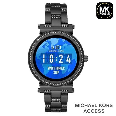 【キャッシュレス決済5%還元】日本語対応 マイケルコース スマートウォッチ レディース マイケルコース 腕時計 マイケルコース 時計 MKT5035 インポート 誕生日 ギフト iphone Android 対応 ブラック ソフィー 海外取寄せ 送料無料
