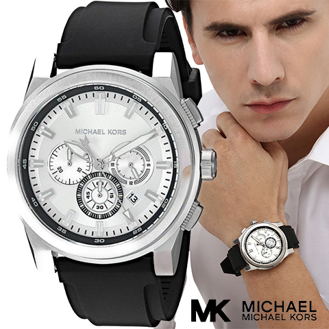 マイケルコース 時計 メンズ マイケルコース 腕時計 MK8596 インポート 誕生日 ギフト プレゼント 彼氏 シルバー ブラック 海外取寄せ 送料無料