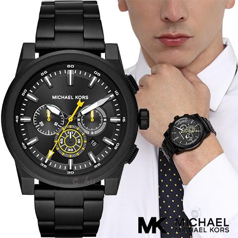 マイケルコース 時計 メンズ マイケルコース 腕時計 MK8600 インポート 誕生日 ギフト プレゼント 彼氏 シルバー ブラック 海外取寄せ 送料無料