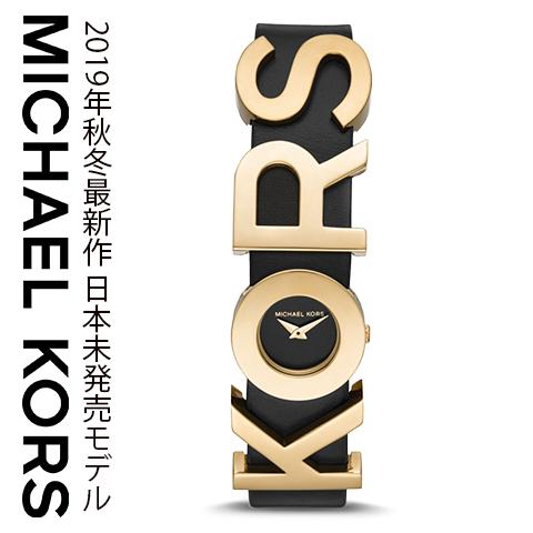 2019秋冬最新作 米国MK直営店品 マイケルコース 時計 michaelkors 腕時計 マイケル コース 腕時計 michael kors 時計 マイケルコース時計 レディース インポート MK2852 ゴールド ブラック レザー 海外取寄せ 送料無料