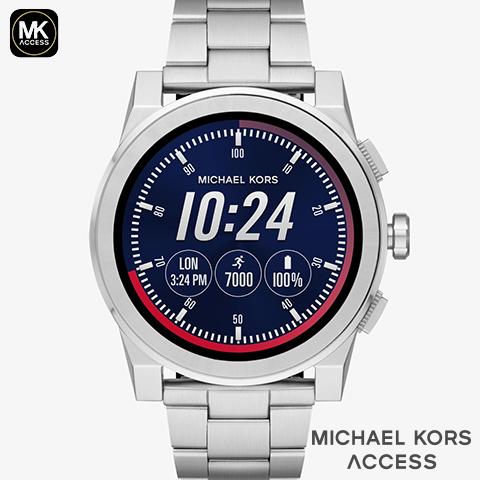 マイケルコース スマートウォッチ メンズ マイケルコース 腕時計 マイケルコース 時計 グレイソン MKT5026 MKT5025 MKT5029 MKT5038 MKT5028 MKT5037 インポート 誕生日 iphone Android 対応 シルバー 海外取寄せ 送料無料