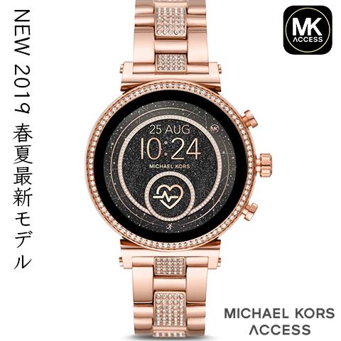 【キャッシュレス決済5%還元】2019春夏最新モデル マイケルコース スマートウォッチ レディース マイケルコース 腕時計 マイケルコース 時計 MKT5068 MKT5069 MKT5067 MKT5064 MKT5066 ピンクゴールド クリスタル 海外取寄せ 送料無料
