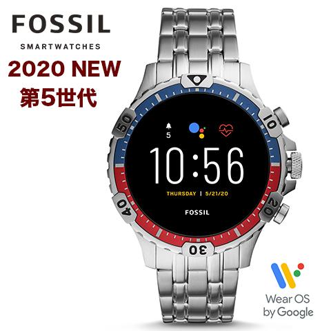 2020年最新モデル【第5世代】【米国FOSSIL直営店品】【キャッシュレス決済5%還元】フォッシル タッチスクリーンスマート ウォッチ メンズ フォッシル 腕時計 Fossil スマートウォッチ Fossil 腕時計 ジェネレーション5 インポート FTW4040P FTW4040 海外取寄せ 送料無料