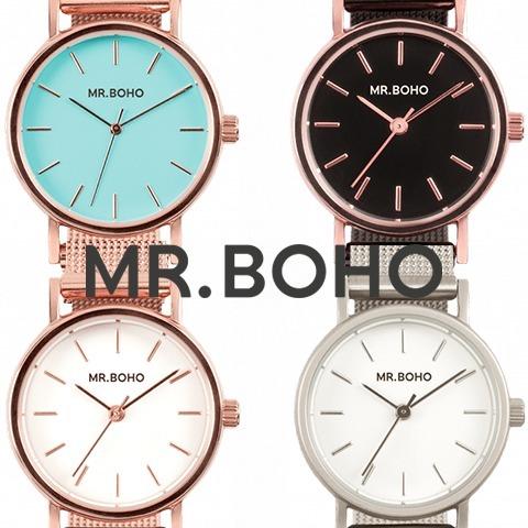 正規店買付け品 日本未発売 ミスターボーホー 時計 MR.BOHO 腕時計 レディース メンズ MINI METALLIC ミニメタリック 海外取寄せ 送料無料