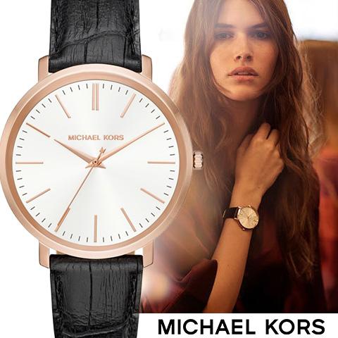 ラスト1点限り あす楽 送料無料【キャッシュレス決済5%還元】マイケルコース 時計 レディース マイケルコース 腕時計 mIchael kors watch MK2472 MK2496 MK2605 インポート 誕生日 ギフト プレゼント 彼女 ブラック ブラックベルト