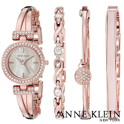 【キャッシュレス決済5%還元中】米国正規販売代理店品 アンクライン 時計 アンクライン 腕時計 レディース Anne Klein 2238RGST インポート ブレスレットセット 海外取寄せ 送料無料