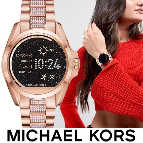 マイケルコース スマートウォッチ レディース マイケルコース 腕時計 マイケルコース 時計 MKT5018 インポート 誕生日 ギフト プレゼント 彼女 防水 iphone Android 対応 ピンクゴールド Brandshow 送料無料