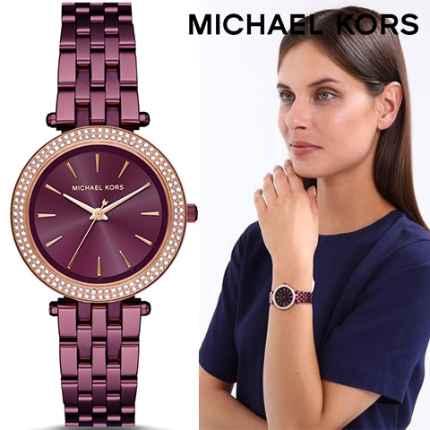 ラスト1点限り マイケルコース 時計 mIchael kors watch mIchael kors 時計 マイケルコース 腕時計 レディース MK3725 インポート 誕生日 ギフト プレゼント 彼女 パープル あす楽 送料無料