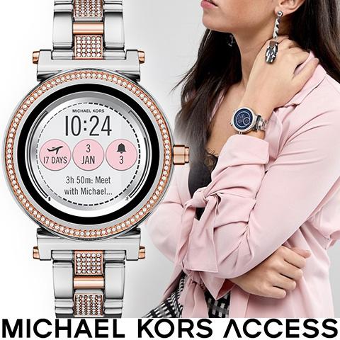 マイケルコース スマートウォッチ レディース マイケルコース 腕時計 マイケルコース 時計 MKT5040 インポート iphone Android 対応 ピンクゴールド シルバー 海外取寄せ 送料無料