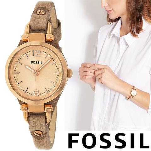 フォッシル 時計 レディース フォッシル 腕時計 Fossil watch Fossil 時計 ES3262 インポート 誕生日 ギフト プレゼント 彼女 ピンクゴールド 海外取寄せ 送料無料