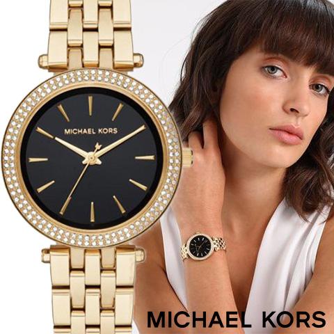 ラスト2点限り あす楽 送料無料【キャッシュレス決済5%還元】マイケルコース 時計 マイケルコース 腕時計 レディース MK3738 インポート 誕生日 ギフト プレゼント 彼女 ゴールド ブラック