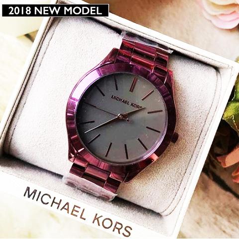 ラスト1点限り マイケルコース 時計 マイケルコース 腕時計 レディース Michael Kors MK3551 インポート あす楽 送料無料 誕生日 ギフト プレゼント 彼女 パープル ブラック