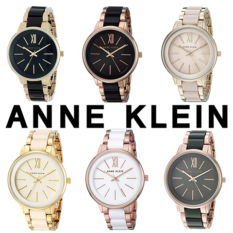 新春特別SALE アンクライン 時計 アンクライン 腕時計 レディース Anne Klein 1412BKGB 1412BKRG 1412OLRG 1412BMGB 1412IVGB 1412WTRG インポート 誕生日 ギフト プレゼント 彼女 ゴールド ピンクゴールド ホワイト 海外取寄せ 送料無料