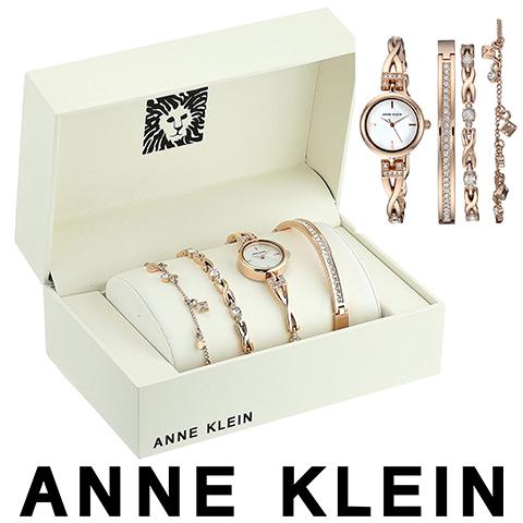 ラスト1点限り アンクライン 時計 ブレスレットセット Anne Klein 腕時計 アンクライン 腕時計 Anne Klein 時計 アンクライン 時計 レディース 3082RGST 人気 ブランド 女性 彼女 妻 嫁 プレゼント かわいい おしゃれ ピンクゴールド あす楽 送料無料