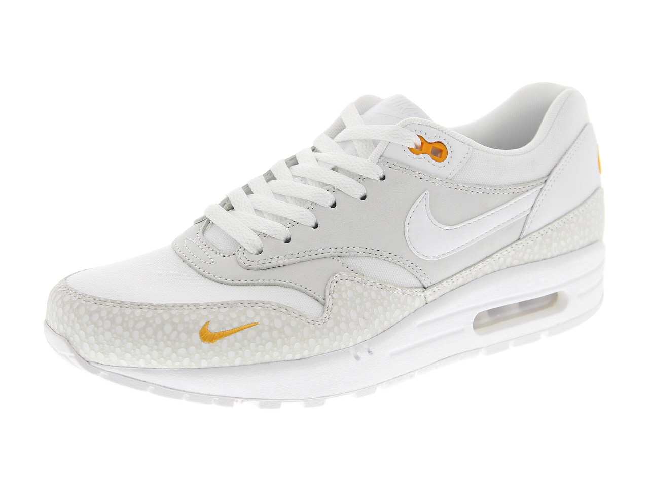 NIKE AIR MAX 1 PRM (512033-110) WHITE/WHITE-KUMQUAT