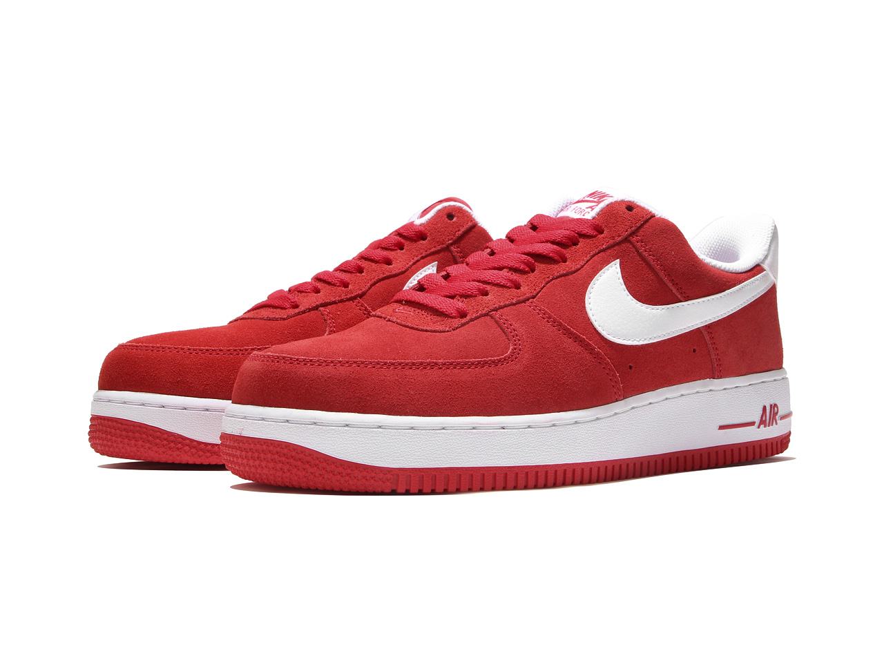 NIKE AIR FORCE 1 '07 (315,122-612) UNIVERSITY RED/WHITE