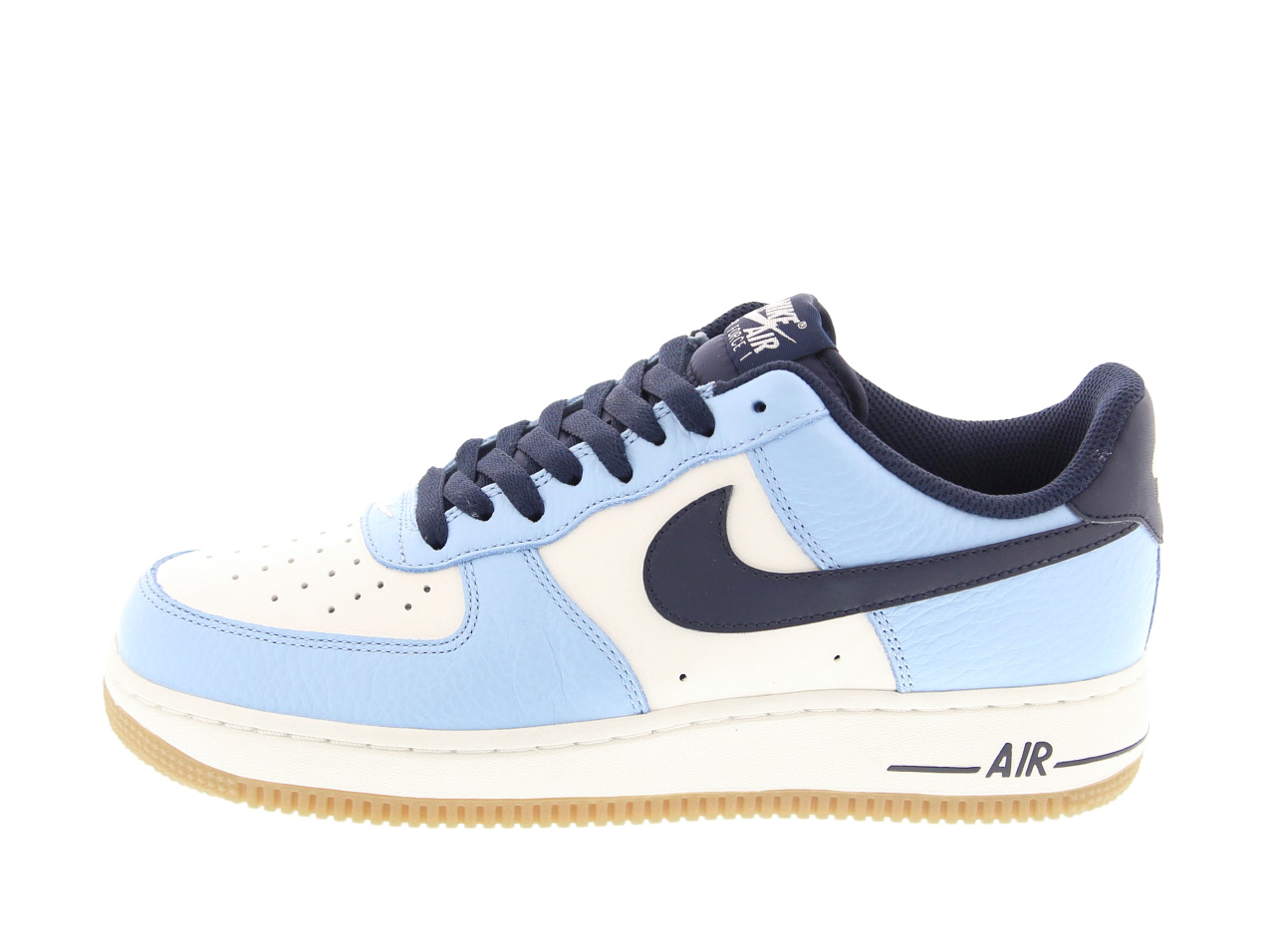 NIKE AIR FORCE 1 (820266-400) BLUECAP/OBSDN-SL-GM LGHT BRWN