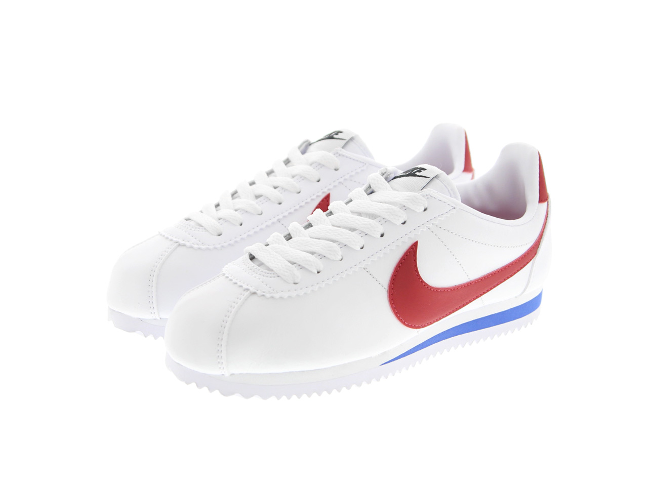 NIKE WMNS CLASSIC CORTEZ LEATHER(807471-103)白/酒吧城红/酒吧城皇家