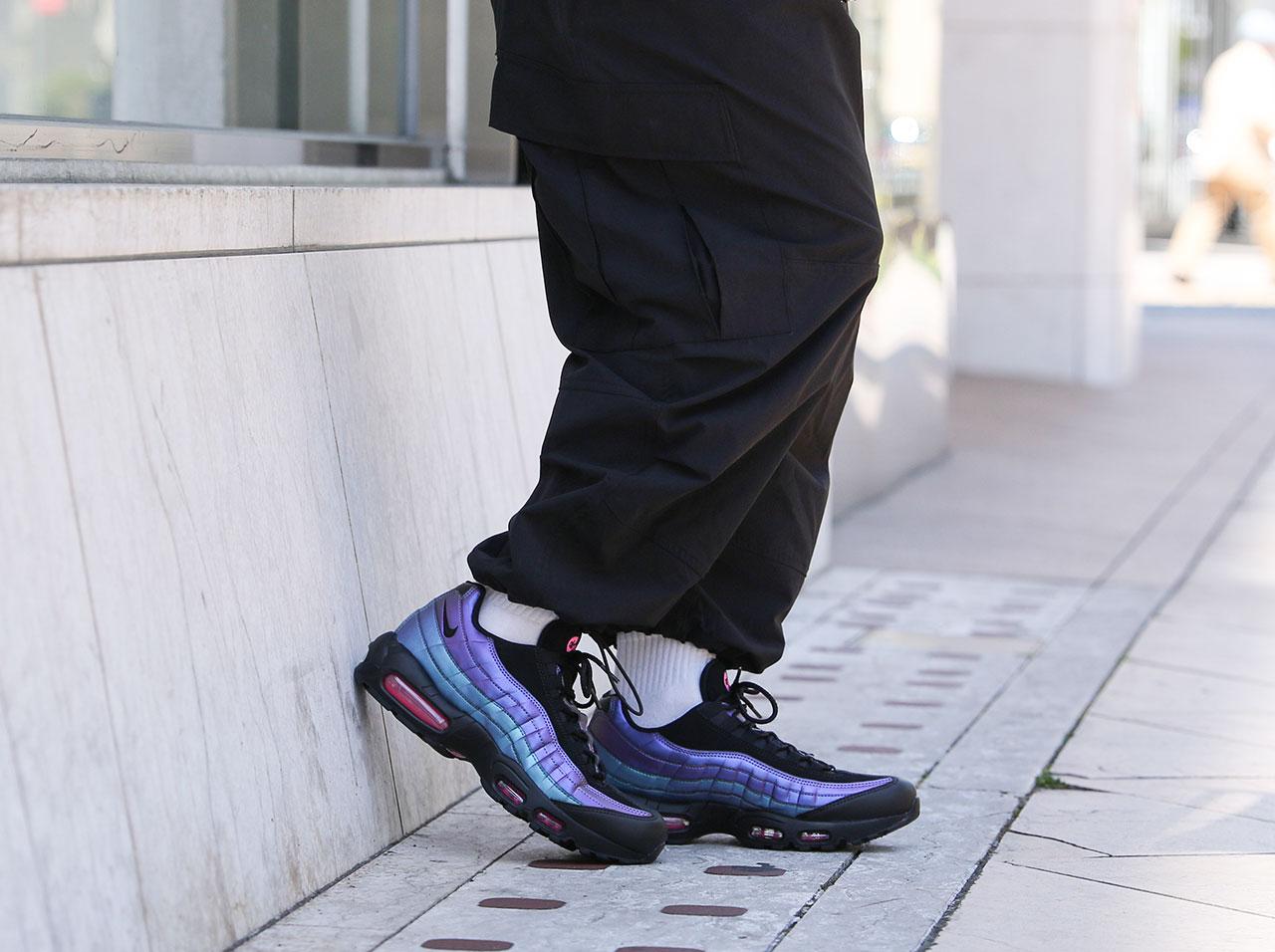 【全品ポイント10倍!期間限定★今すぐエントリー!(4/1~4/30)】NIKE AIR MAX 95 PRM(538416-021)【ナイキ】【メンズファッション【シューズ】【靴】【スニーカー】【フットウェア】