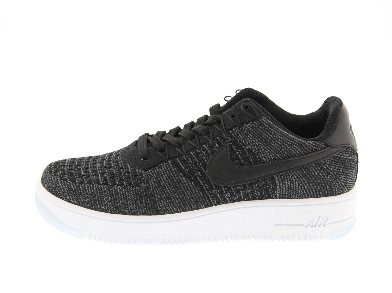 NIKE AF1 ULTRA FLYKNIT LOW (817419-004) BLACK/BLACK-DARK GREY-WHITE