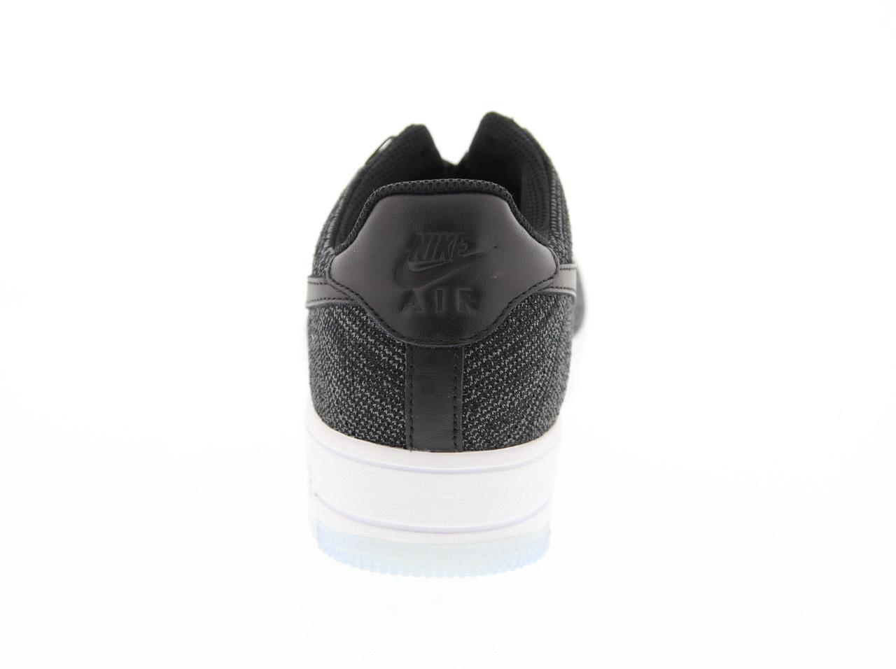 Nike Air Force 1 Flyknit Nero / Nero / Grigio Scuro / Bianco UnfaAT652