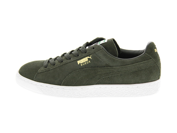 Mens Shoes PUMA The Suede Classic+ Forest Night/White