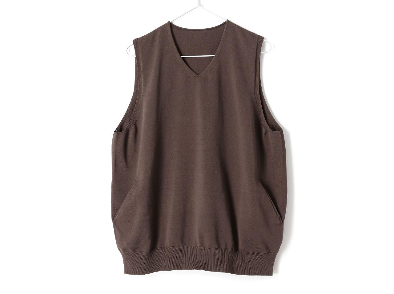 crepuscule wholegarment vest(2001-009)【クレプスキュール ホールガーメント ベスト】【メンズファッション】【ベスト】【チョッキ】【ジレ】【ウエストコート】