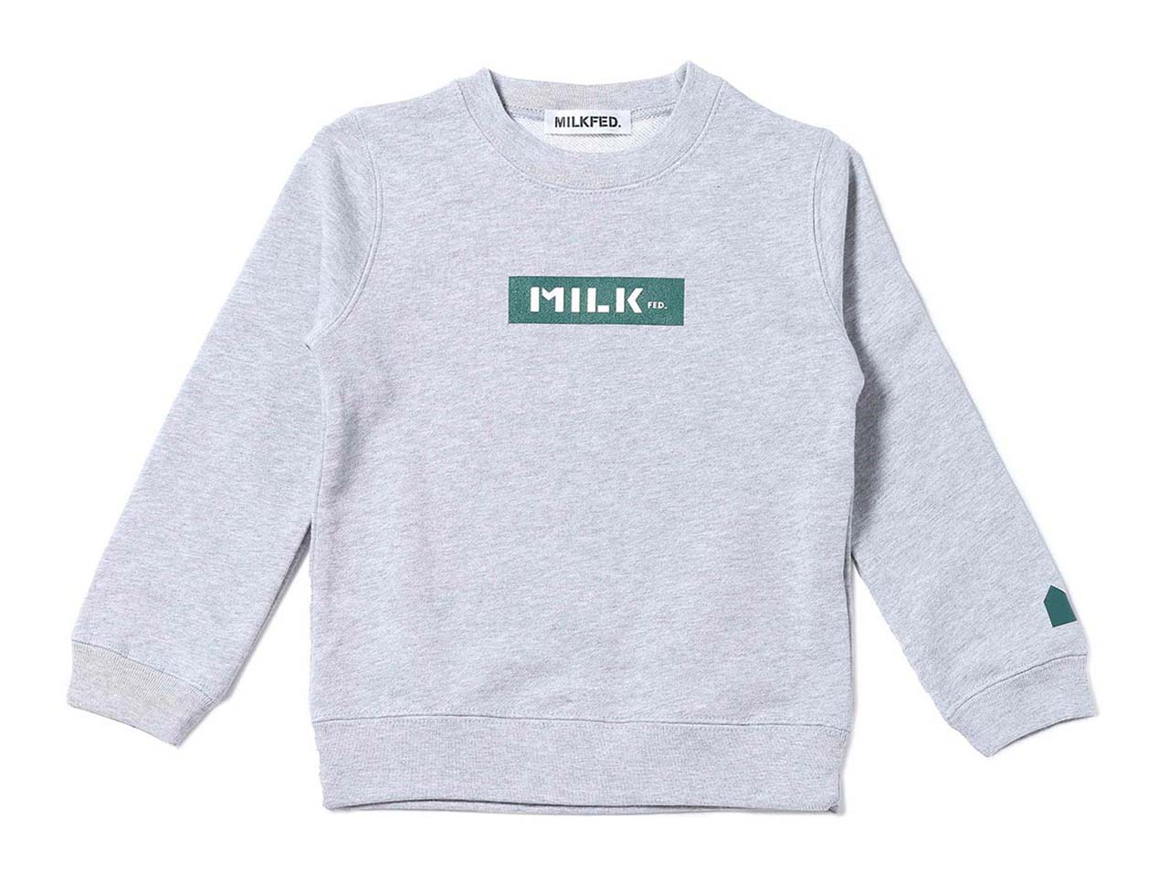 IN THE HOUSE×MILKFED. KIDS SWEAT GREEN(ith-0093)【インザハウス×ミルクフェド】【キッズ】【コラボレーション】【コラボアイテム】【ストリート】【HO_1】